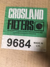 Crossland 9684 Air Filter, Suitable for Mercedes Unimog